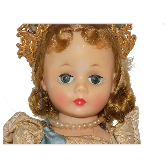 1957 Cissette QUEEN-ELIZABETH Doll Tagged Gold Gown