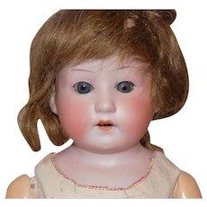 Antique German Heubach Kopplesdorf Doll To Dress Pink Leather Body #275