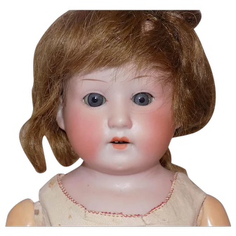 Antique German Heubach Kopplesdorf Doll To Dress Pink Leather Body #275