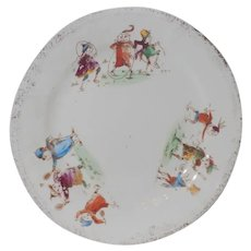 Old Porcelain Palmer Cox Brownie's Brownie Plate Many Faces Dainty Hancock