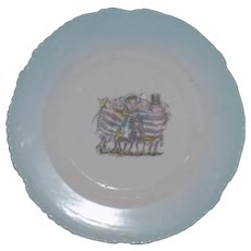 Vintage Palmer Cox Brownie Brownie's Porcelain Plate American Flag