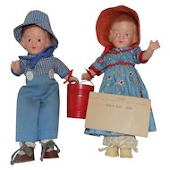 R&B Arranbee Composition Jack & Jill Doll Dolls All Original