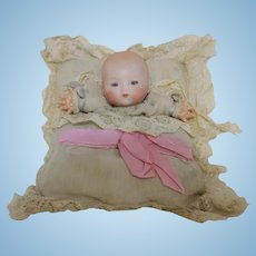 Antique German Armand Marseille Dream Baby Pillow Puppet Doll