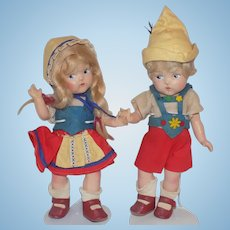 Vogue Composition Ginny Toddles Hansel and Gretel Dolls Doll