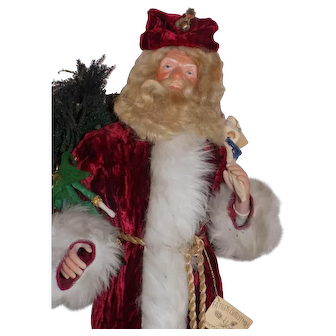 UFDC ARTIST Rosemarie Snyder Father Christmas Doll Bisque