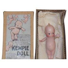 Antique German Rose O'Neill Bisque Kewpie Doll w/Box