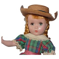 """14"""" Madame Alexander Polly Pigtails Maggie Doll A.O. Tagged"""