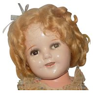 """Vintage Ideal 18"""" Composition Shirley Temple Doll Make-up All Original Flirty Eyes"""