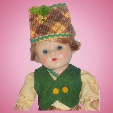 Vintage Vogue Strung Ginny Boy Doll All Original
