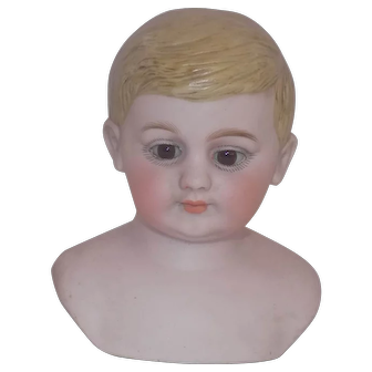 American Schoolboy School Boy German Bisque character Doll Head