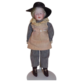 Antique Gebruder Heubach Character  Laughing Smiling Doll
