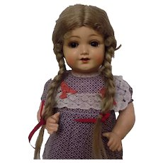 Antique German Kammer & Reinhardt Celluloid Toddler Baby Doll Nicely Dressed