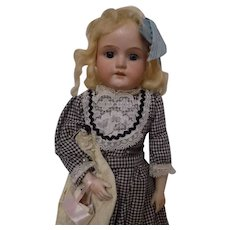 Antique German Armand Marseille Doll w/German Baby Cabinet Size