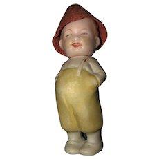 Antique German bisque 2 Faced Nodder Doll Black White Character