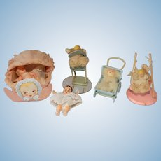 Miniature Celluloid Plastic Baby Dolls Doll Lot