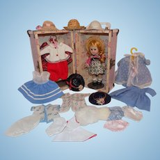 Vintage 1956 SLW Vogue Ginny Doll Trunk and Clothes #44 Tiny Miss