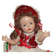 Vintage Composition Doll Regional International Clothes All Original