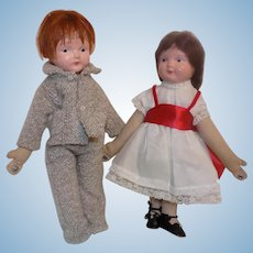 Composition Madame Hendren Dancing Dolls Doll Pair
