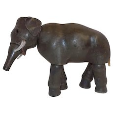 Old Wood Schoenhut Elephant Glass eyes Circus