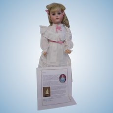 21 Inch Antique Adolf Wislizenus Special German Bisque Doll with Provenance