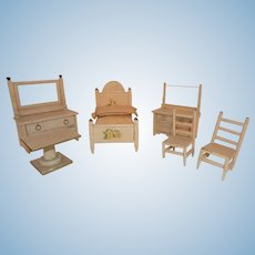 Antique German Doll Furniture Doll House