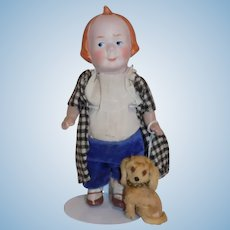 Antique Max & Moritz German Doll Recknagel Moritz Doll w/Dog