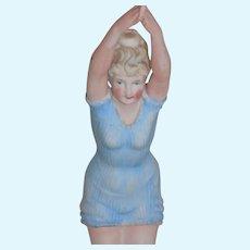 Antique German Bathing Beauty Diving Figurine Art Deco