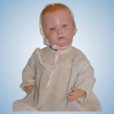 "Large 15"" Antique Wood Schoenhut Baby Doll"