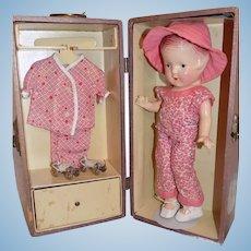 Composition Arranbee R&B Nancy Doll Trunk & Clothes