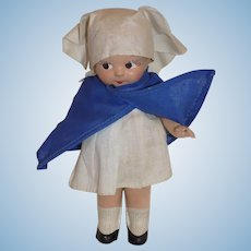 Vintage Composition Nun Doll French