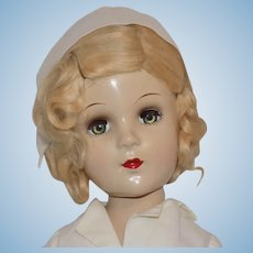 Composition Miss Curity Nurse Advertising Doll All Original