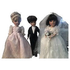 UFDC Mary Hoyer Luncheon Bride Groom Bridesmaid Doll Doll LE