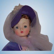 BEAUTIFUL 1959 Gay Nineties Cissy Doll All Original Tagged Red head Purple Godey