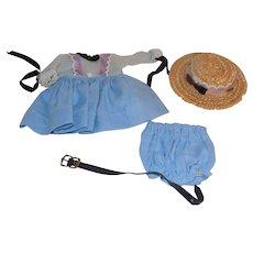 1953 Vogue Strung  Ginny Doll Angela Dress Hat Bloomers Belt Tagged