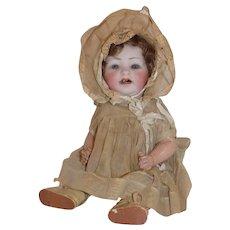 Sweet Antique German Hertel and Schwab 152 Character Baby Doll