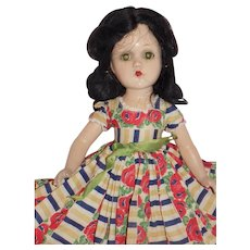 Vintage Composition Madame Alexander Scarlett O'Hara Doll Tagged Dress