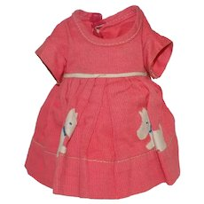 Vintage Ideal Composition Shirley Temple Doll Dress Scottie Dog