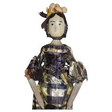 Old Jointed Wood House of 7 Seven Gables Doll
