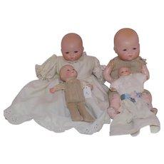 4 Armand Marseille Kiddie Joy Dream Baby Dolls Doll