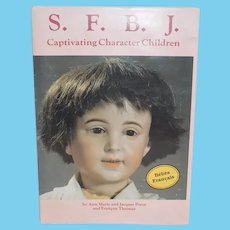 SFBJ French Bisque Character Dolls Markings Book Doll