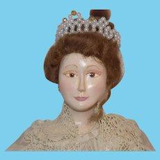 OOAK Wood Artist Doll Queen Victorian George &Cathy Lehmer 1997 UFDC Wooden