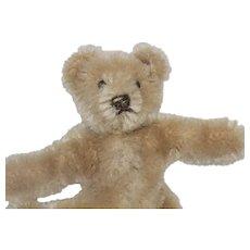 Steiff Vintage Teddy Bear Mini 2.5 -3' Flexible Beige Mohair Plush