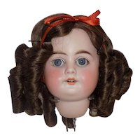 Antique German Armand Marseille 1894 Doll head and wig