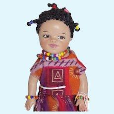 Ping Lau Artist doll OOAK Jayla African American Doll Black Brown