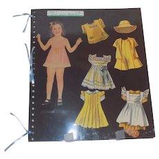 1930's Dionne Quintuplets Quintuplet Doll Paper Dolls