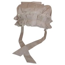 Large Silk Doll Bonnet Doll Masters Cream Color