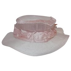 Great silk doll hat from Dollmasters New Pink and White