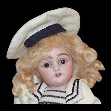 """9"""" Antique German Kestner 143 Doll Sailor Outfit"""