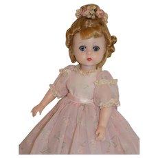 Vintage 1959 Madame Alexander Lissy Doll RARE Print Gown
