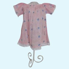 Vintage Pink and Blue Print Dress Composition Baby doll